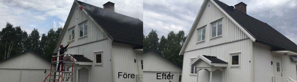 Hus som tvättats
